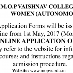 Vaishnav College Application Form Download 2017