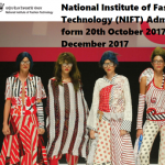 National Institute of Fashion Technology (NIFT) Admission start form 20th October 2017 to 29th December 2017