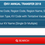 KVS Annual Transfer 2018: KV & Station Code with Tentative Vacancy Search Box